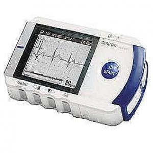 Omron HC801E heartscan handheld ECG device.
